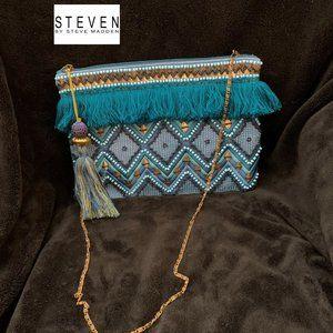 STEVEN BY STEVE MADDEN BOHO SHOULDER BAG BLUES